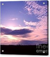 Crimped Clouds Acrylic Print