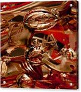 Crimson And Gray Glass Macro Ws2 Acrylic Print