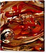 Crimson And Gray Glass Macro Ws6 Acrylic Print