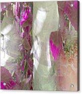 Crimson And Silver Acrylic Print