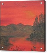 Crimson Lake Acrylic Print