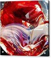 Crimson Orb Acrylic Print