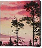 Crimson Sunset Splendor Acrylic Print by James Williamson