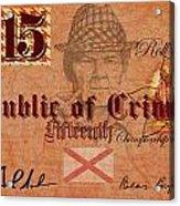 Crimson Tide Currency Acrylic Print
