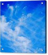 Cris Cross Clouds IIi Acrylic Print