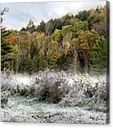 Crisp Morning Frost Hillside Landscape Acrylic Print