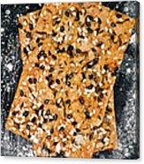 Crispbread With Thyme On Metal Sheet Acrylic Print