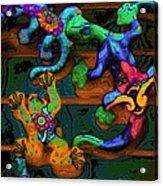 Critters Climbing Walls On Venus Acrylic Print