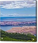 Croatian Islands Aerial View From Velebit Acrylic Print