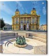 Croatian Nationa Theater In Zagreb Acrylic Print