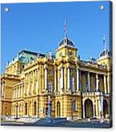 Croatian National Theater In Zagreb Acrylic Print