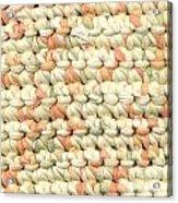 Crochet Rag Rug In Pastel Colours Acrylic Print