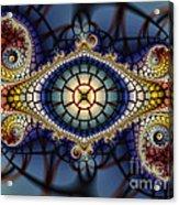 Crochet Work-geometric Abstraction Acrylic Print