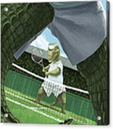 Crocodiles Playing Tennis At Wimbledon  Acrylic Print