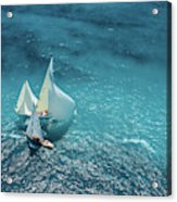 Croisement Bleu Acrylic Print
