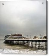 Cromer Pier On A Muggy Cold Day Acrylic Print by Fizzy Image