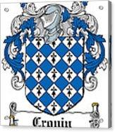 Cronin Coat Of Arms Irish Acrylic Print