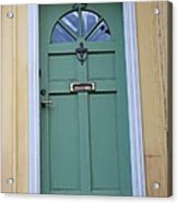 Crooked Green Door Acrylic Print