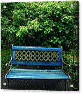 Crooked Little Bench Acrylic Print