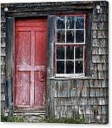 Crooked Red Door Acrylic Print