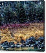 Crooked River At Smith Rock Acrylic Print