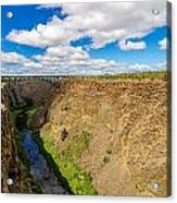 Crooked River Canyon And Bridge Acrylic Print