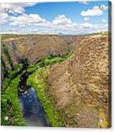 Crooked River Canyon Acrylic Print