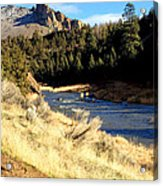 Crooked River December Morning Acrylic Print