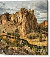 Croooked River Around The Jagged Peaks Acrylic Print