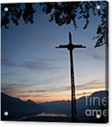 Cross On The Mountain Acrylic Print