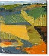 Crop Fields Acrylic Print by Erin Fickert-Rowland