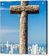 Cross And City Acrylic Print
