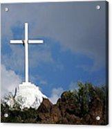 Cross At San Xavier - Tucson Acrylic Print
