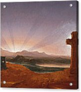 Cross At Sunset Acrylic Print