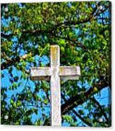 Cross At The Monastery Of The Holy Spirit Acrylic Print
