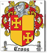 Cross Coat Of Arms Irish Acrylic Print