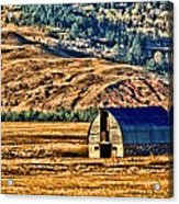 Cross Country Deserted Acrylic Print by Rebecca Adams