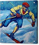 Cross Country Skier Acrylic Print