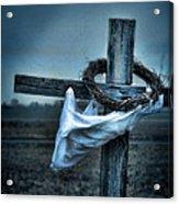 Cross In A Field Acrylic Print