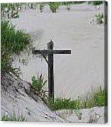 Cross In The Dunes Acrylic Print