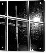 Cross In Window Acrylic Print