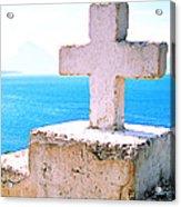 Cross Over Lake Atitlan Acrylic Print
