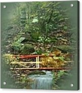 A Bridge To Cross Acrylic Print