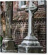 Cross Tombstone Acrylic Print