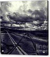 Crossed Tracks Acrylic Print