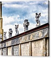 Crosses And Angels Acrylic Print