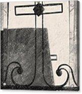 Crosses Voided Wrought Iron _ Nola Acrylic Print