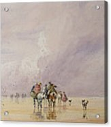 Crossing Lancaster Sands Acrylic Print