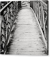 Crossing Over - Black And White Acrylic Print