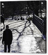 Crossing Over - Central Park - Nyc Acrylic Print